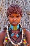 Pierwotna Hamar dama w Omo dolinie w Etiopia obraz royalty free