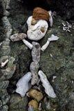 Pierwotna rzeźba robić skała, koral i koks mężczyzna, Obrazy Stock
