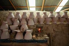 Pierwotna technologia, termit gliny kiln obrazy stock