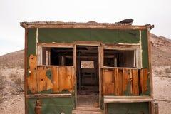 Pierwotny budować wciąż stoi Rhyolite miasto widmo Nevada Obrazy Stock