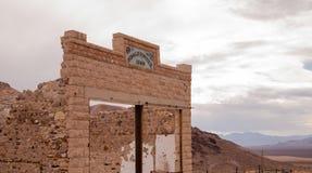 Pierwotny budować wciąż stoi Rhyolite miasto widmo Nevada Zdjęcia Royalty Free