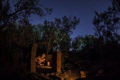 Pierwotny camping w pustkowiu zdjęcie royalty free
