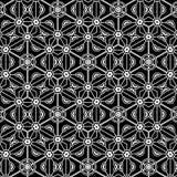 Pierwotny prosty popielaty retro koronka wzór z kwiatami i okręgami ilustracji