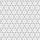 Pierwotnych geometrii sacra retro wzór z liniami i okręgami Zdjęcia Stock