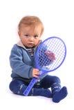 pierwsza lekcja tenisa Obrazy Royalty Free