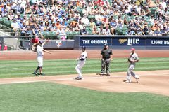 Pierwsza Liga Baseballa Obraz Stock