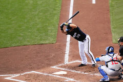 Pierwsza Liga Baseballa akcja Fotografia Royalty Free