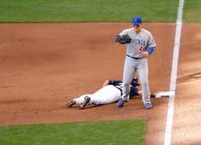 Pierwsza Liga Baseballa akcja Zdjęcia Royalty Free