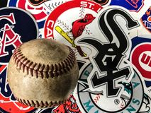 Pierwsza Liga Baseballa majchery fotografia stock