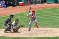 Pierwsza Liga Baseballa - Matt Wakacyjny ciupnięcie Fotografia Stock