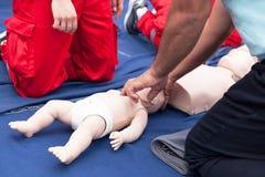 Pierwsza pomoc kurs treningowy obrazy stock