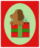 pierwsze święta szczeniak jest Fotografia Stock