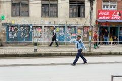 Pierwszorzędny minister Narendra Modi przyjeżdża w Kathmandu Obraz Royalty Free