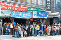 Pierwszorzędny minister Narendra Modi przyjeżdża w Kathmandu Zdjęcie Royalty Free