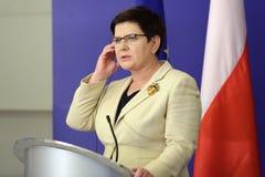 Pierwszorzędny minister Polska Beata Szydlo Obraz Royalty Free
