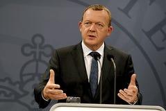 PIERWSZORZĘDNEGO ministra LARS LOKKE RASMUSSEN _BEDRE równowaga Zdjęcia Stock