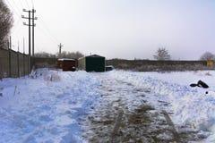 Pierwszy śnieg spadał Zdjęcie Stock