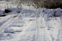 Pierwszy śnieg spadał Fotografia Royalty Free