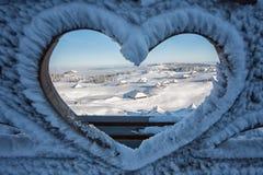Pierwszy śnieg w Velika Planina, Kamnik, Slovenia fotografia royalty free