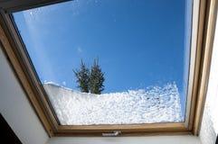 Pierwszy śnieg zima obraz stock