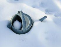 Pierwszy śniegu i ranku słońce fotografia royalty free