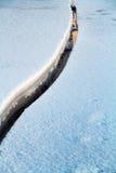 Pierwszy światło słoneczne na Świątobliwej Lawrance rzece w zima ranku Zdjęcia Royalty Free