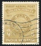 Pierwszy Airmail Postmark zdjęcie stock