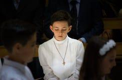 Pierwszy communion obrazy stock