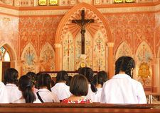 Pierwszy communion - Akcyjny wizerunek Zdjęcia Royalty Free