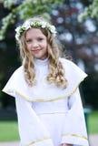pierwszy communion portret Zdjęcie Royalty Free