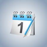 Pierwszy dnia kalendarz Zdjęcie Royalty Free