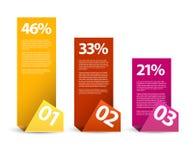 Pierwszy drugi trzeci wektorowy papierowy infographics - Obraz Stock