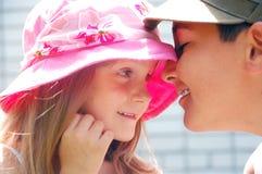 pierwszy dzieciaków miłości romans Zdjęcia Stock