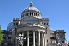 Pierwszy kościół Chrystus naukowiec w Boston Obrazy Stock