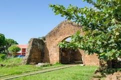 Pierwszy kościelni południe równik w Afryka, Angola, M ` banza Kongo fotografia stock