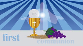 Pierwszy komunia lub Pierwszy Święta komunia, Obrazy Royalty Free