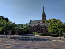 Pierwszy Luterański kościół, Sioux spadki, Południowy Dakota Zdjęcie Stock