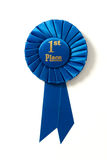 Pierwszy miejsca błękitny faborek na bielu Obraz Royalty Free