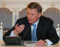 pierwszy minister Iwanow, zastępca premiera jest Rosji Obrazy Royalty Free