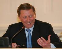 pierwszy minister Iwanow, zastępca premiera jest Rosji Obrazy Stock