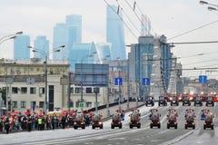 Pierwszy Moskwa parada miasto transport Obraz Royalty Free