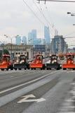 Pierwszy Moskwa parada miasto transport Zdjęcia Stock