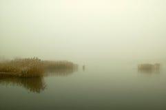pierwszy mrozowy jeziora Obraz Royalty Free