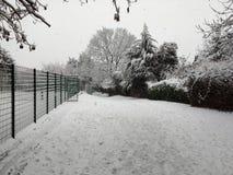Pierwszy śnieg w Londyn Obrazy Royalty Free