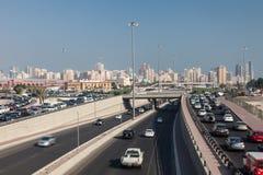 Pierwszy obwodnica w Kuwejt mieście Zdjęcie Royalty Free