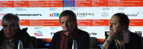 Pierwszy oficjalna konferencja prasowa 41st Moskwa zawody międzynarodowi festiwal filmowy obraz stock