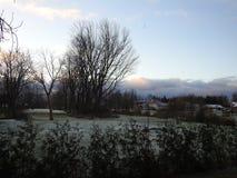 Pierwszy opad śniegu Ontario Kanada Obraz Royalty Free