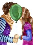 pierwszy pocałunek Ilustracja Wektor