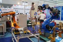 Pierwszy Porcelanowy mądrze wyposażenie przemysłu expo, trzymający w Shenzhen konwenci i Powystawowym centrum obrazy royalty free