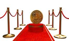 Pierwszy postać w złotym bitcoin fotografia stock